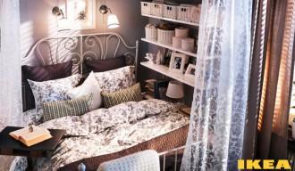 Interior dormitor într-un apartament mic