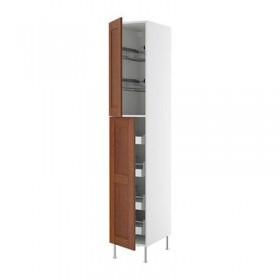 ФАКТУМ Высокий шкаф с ящиками/пров корзин - Ликсторп коричневый, 40x233 см
