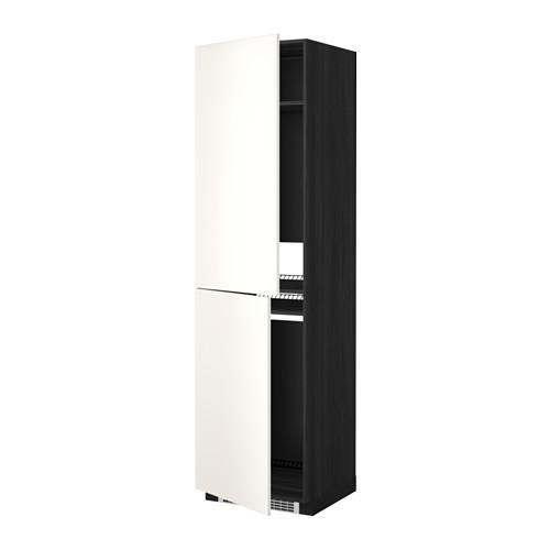 МЕТОД Высок шкаф д холодильн/мороз - 60x60x220 см, Веддинге белый, под дерево черный