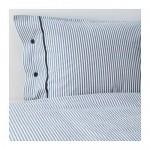 НИПОНРУС Пододеяльник и 2 наволочки - белый/синий, 200x200/50x70 см