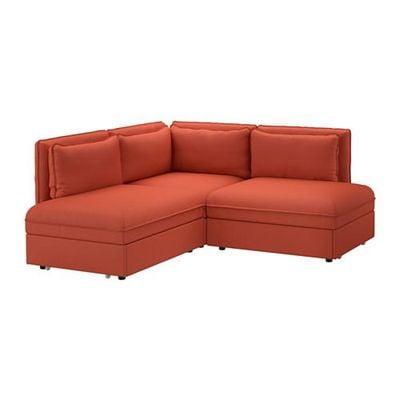 Divano Letto Ad Angolo Ikea.Vallentuna 3 Posti Divano Letto Ad Angolo Orrsta Arancione
