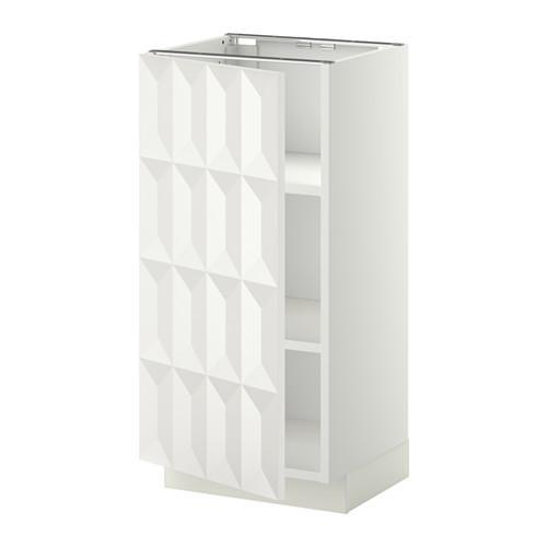 МЕТОД Напольный шкаф с полками - 40x37 см, Гэррестад белый, белый