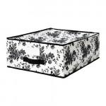 ГАРНИТУР Сумка для хранения - черный/белый цветок, 44x55x19 см
