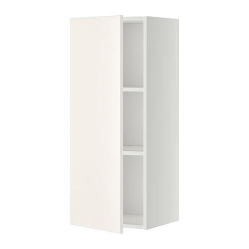 МЕТОД Шкаф навесной с полкой - 40x100 см, Веддинге белый, белый