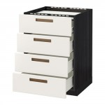 MÉTHODE / FORVARA étage armoires / 4front PNL / 4yaschika - 60x60 blanc, bois noir cm Mersta