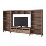 ХЕМНЭС Шкаф для ТВ, комбинация - серо-коричневый