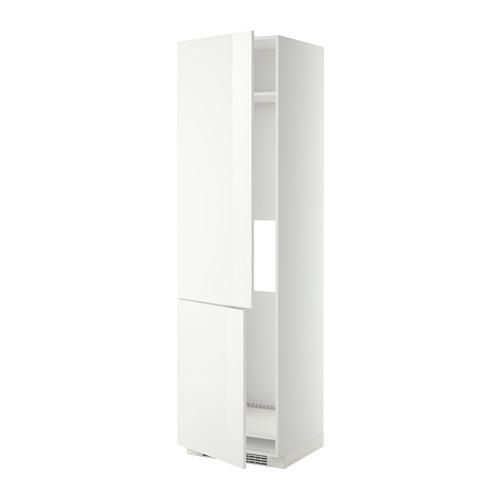 МЕТОД Высокий шкаф д/холод/мороз/2дверцы - Рингульт глянцевый белый, белый