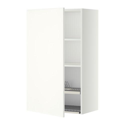 МЕТОД Шкаф навесной с сушкой - 60x100 см, Хэггеби белый, белый