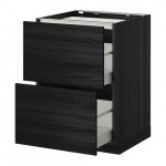 METHOD / MAXIMER Outdoor cabinet / 2 front / 3 drawer - for wood black, Tingsried for wood black, 60x60 cm