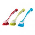 PLASTIS щетка для мытья посуды разные цвета