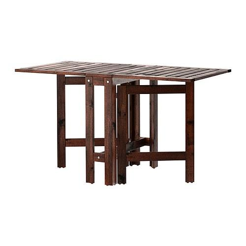 ÄPPLARÖ складной стол, садовый коричневая морилка 62x71 cm