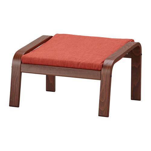 ПОЭНГ Табурет для ног - классический коричневый, Шифтебу темно-оранжевый