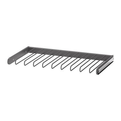 КОМПЛИМЕНТ Выдвижная вешалка для брюк - темно-серый, 75x35 см