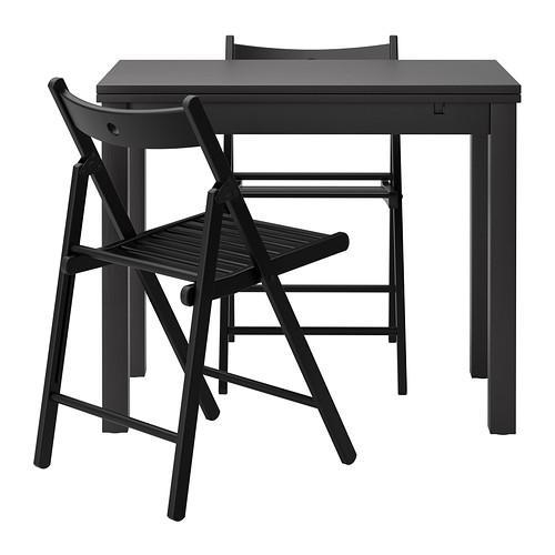 БЬЮРСТА/ТЕРЬЕ Стол и 2 стула