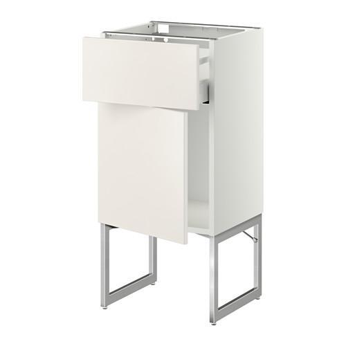 МЕТОД / МАКСИМЕРА Напольный шкаф с ящиком/дверью - 40x37x60 см, Веддинге белый, белый