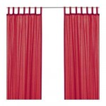 Wilma curtains, 2 pieces - bright red