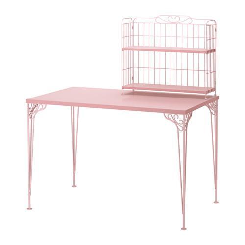 ФАЛЬКХОЙДЕН Стол с дополнительным модулем - розовый
