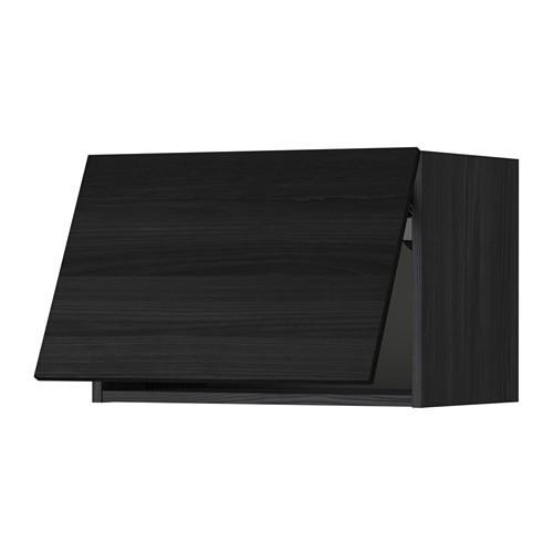 МЕТОД Горизонтальный навесной шкаф - 60x40 см, Тингсрид под дерево черный, под дерево черный
