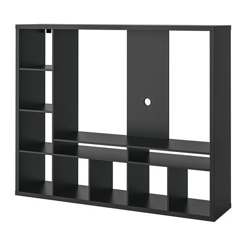 ЛАППЛАНД Шкаф для ТВ - черно-коричневый