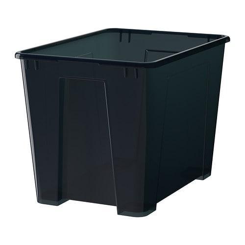САМЛА Контейнер - черный, 39x28x28 см/22 л