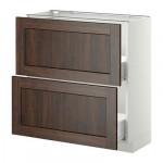МЕТОД / ФОРВАРА Напольный шкаф с 2 ящиками - 80x37 см, Эдсерум под дерево коричневый, белый