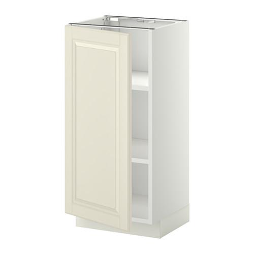 МЕТОД Напольный шкаф с полками - 40x37 см, Будбин белый с оттенком, белый