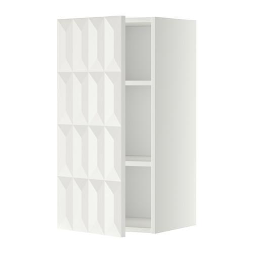 МЕТОД Шкаф навесной с полкой - 40x80 см, Гэррестад белый, белый