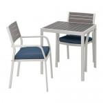 SJÄLLAND Tisch + 2 Stuhl + Bank, D Garten (292.676.59