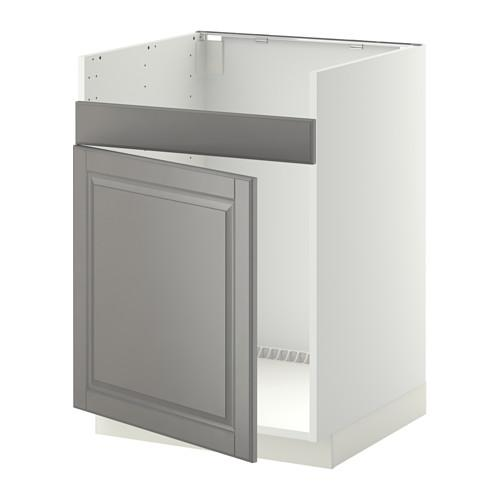 МЕТОД Нплн шкаф для одинарн мойки ДУМШЁ - Будбин серый, белый