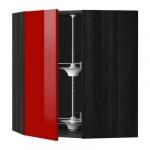 МЕТОД Угл нвсн шкф с вращающ секц - 68x80 см, Рингульт глянцевый красный, под дерево черный