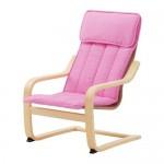 POAGEN Children's armchair - birch veneer / Almos pink