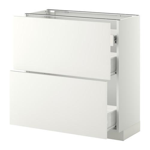 VERFAHREN / FORVARA Nap Schrank 2 FRNT PNL / 1nizk / 2sr Schubladen - weiß, weiß Heggebi, 80x37 cm
