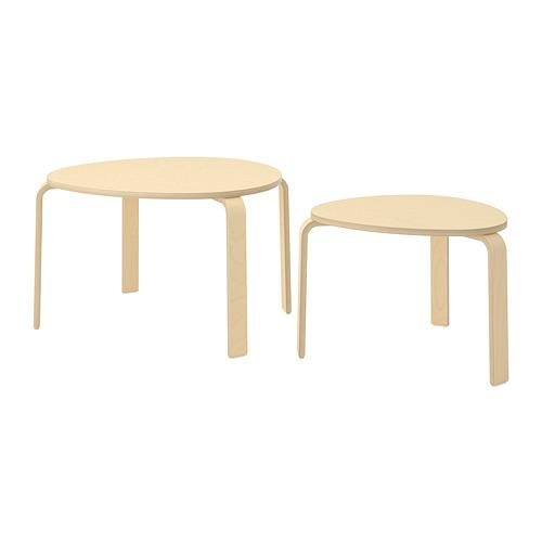 СВАЛЬСТА Комплект столов, 2 шт