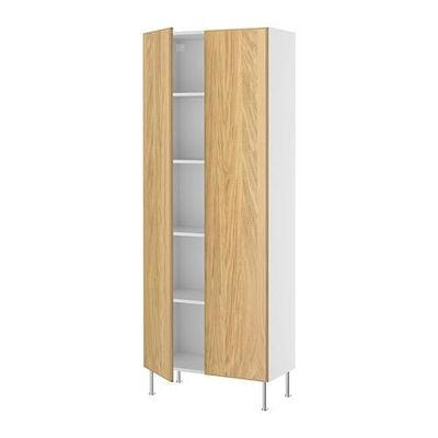 FAKTUM High cabinet with shelves - Nore oak, 80x211x37 see