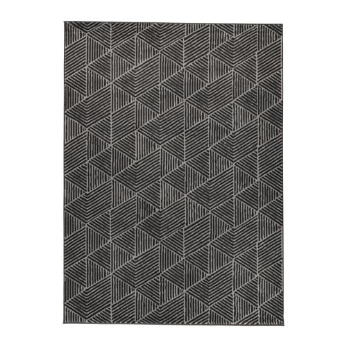 tapis stenlille poil court noir