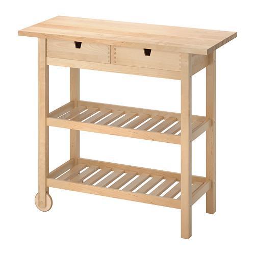 Tavolo Con Ruote Ikea.Forhoja Table With Wheels Birch 800 359 20 Recensioni Prezzi