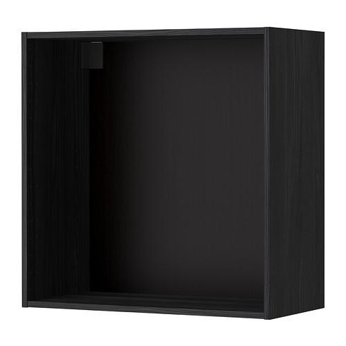 МЕТОД Каркас навесного шкафа - 80x37x80 см, под дерево черный