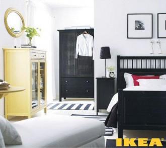Interiorul dormitor clasic în alb și negru