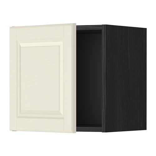 МЕТОД Шкаф навесной - 40x40 см, Будбин белый с оттенком, под дерево черный