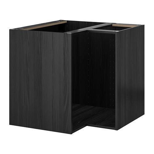 МЕТОД Каркас напольного шкафа углового - под дерево черный