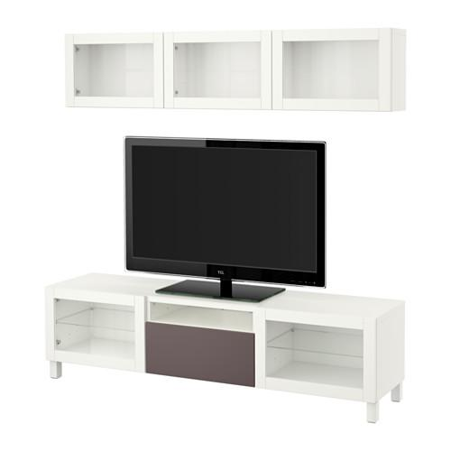 best tv schrank kombinierte glast r wei valviken dunkelbraun transparentes glas. Black Bedroom Furniture Sets. Home Design Ideas