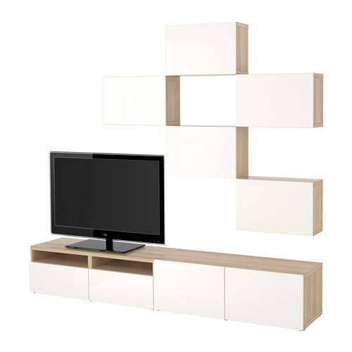 Witte Ikea Tv Kast.Besto Tv Kast Combinatie Onder Gebleekt Eik Selsviken