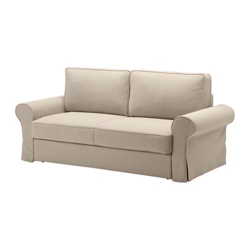 БАККАБРУ Чехол на 3-местный диван-кровать - Хильте бежевый, Хильте бежевый