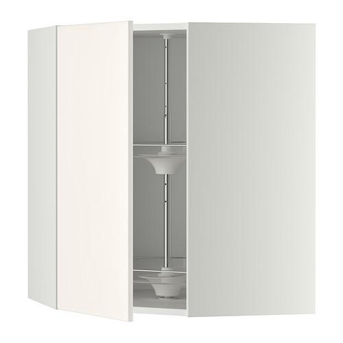МЕТОД Угл нвсн шкф с вращающ секц - 68x80 см, Веддинге белый, белый