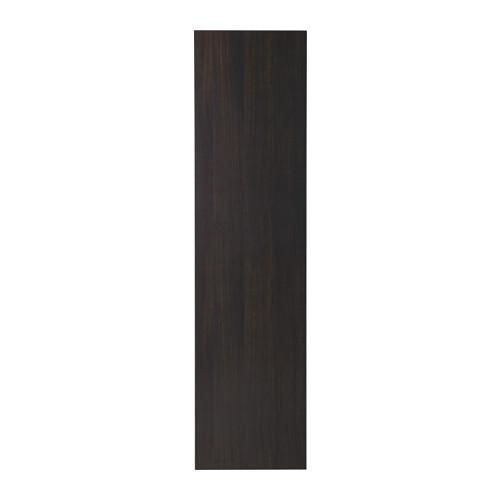 ВОЛЬДА Дверь - плавно закрывающиеся петли, черно-коричневый, 50x195 см