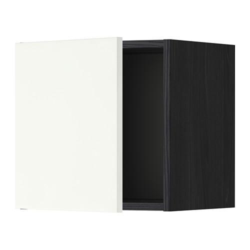 МЕТОД Шкаф навесной - 40x40 см, Хэггеби белый, под дерево черный