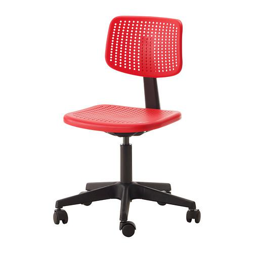 Alrik chaise travail - rouge