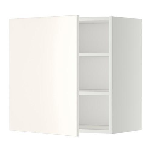 МЕТОД Шкаф навесной с полкой - 60x60 см, Веддинге белый, белый
