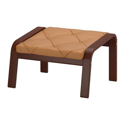 ПОЭНГ Табурет для ног - Сеглора/Рисане неокрашенный, коричневый