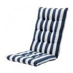 ХОЛЛО Подушка спинная/на сиденье - в полоску/синий